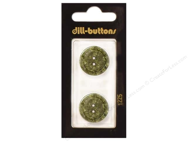 Dill 2 Hole Buttons 13/16 in. Dark Green #1225 2pc.