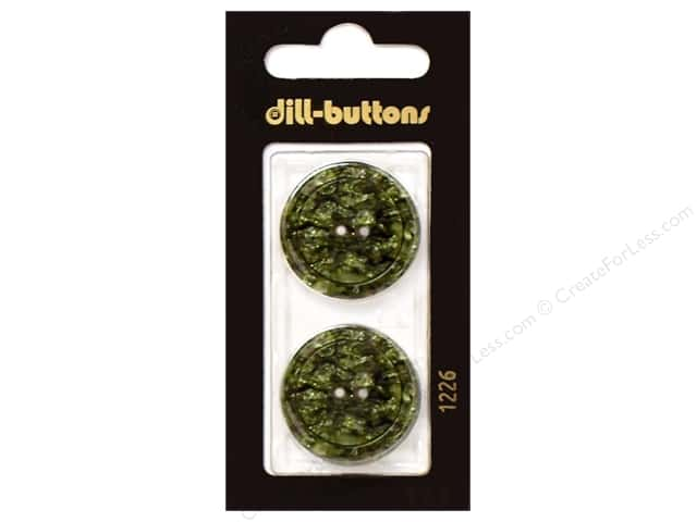 Dill 2 Hole Buttons 1 in. Dark Green #1226 2pc.