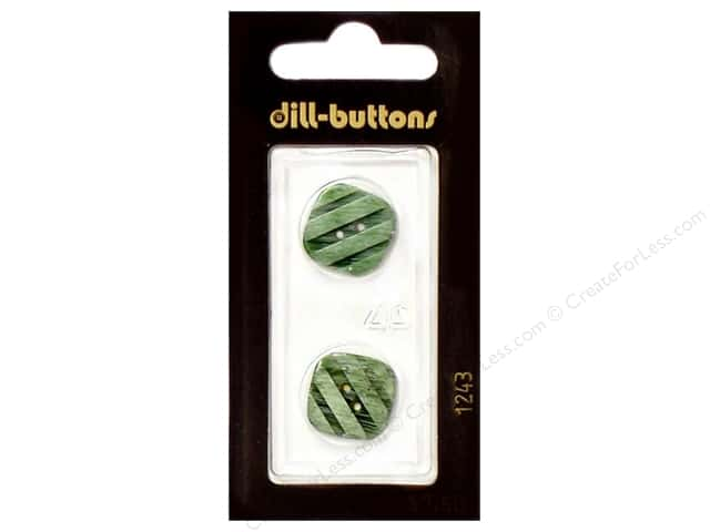 Dill 2 Hole Buttons 11/16 in. Light Green #1243 2pc.