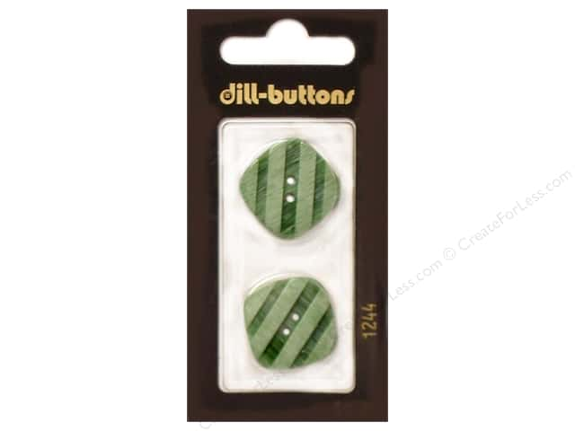 Dill 2 Hole Buttons 7/8 in. Light Green #1244 2pc.