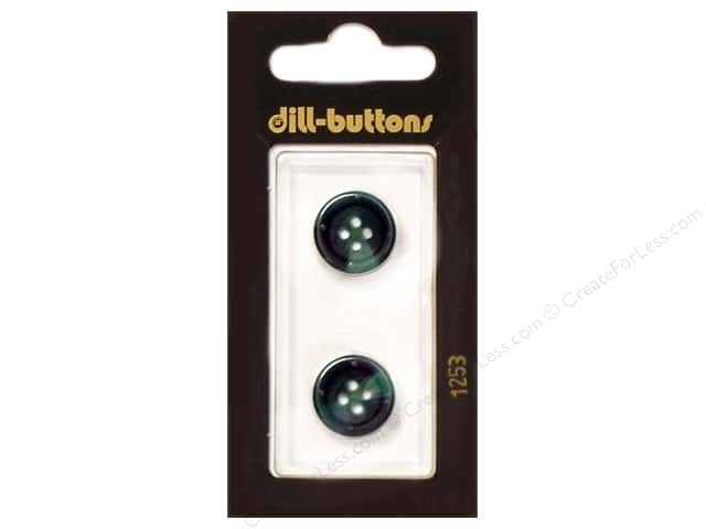 Dill 4 Hole Buttons 5/8 in. Dark Green #1253 2pc.