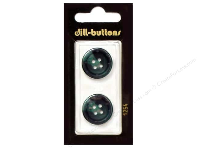 Dill 4 Hole Buttons 13/16 in. Dark Green #1254 2pc.