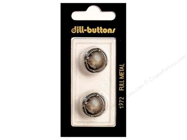 Dill Shank Buttons 11/16 in. Dull Silver Metal #1972 2pc.