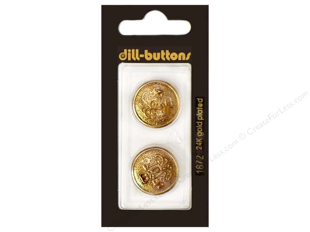 Dill Shank Buttons 13/16 in.  Antique Gold Metal #1872 2pc.
