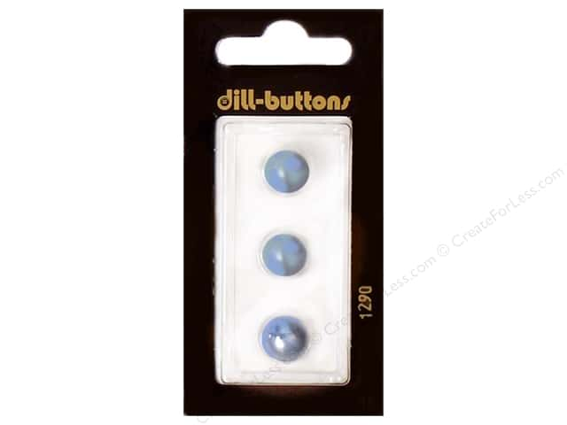 Dill Shank Buttons 3/8 in. Pearl Blue #1290 3pc.