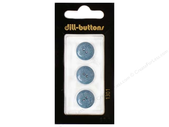 Dill 2 Hole Buttons 9/16 in. Blue #1301 3pc.