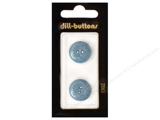 Dill 2 Hole Buttons 11/16 in. Blue #1302 2pc.