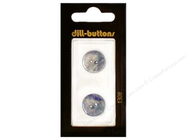 Dill 2 Hole Buttons 5/8 in. Royal Blue #1308 2pc.