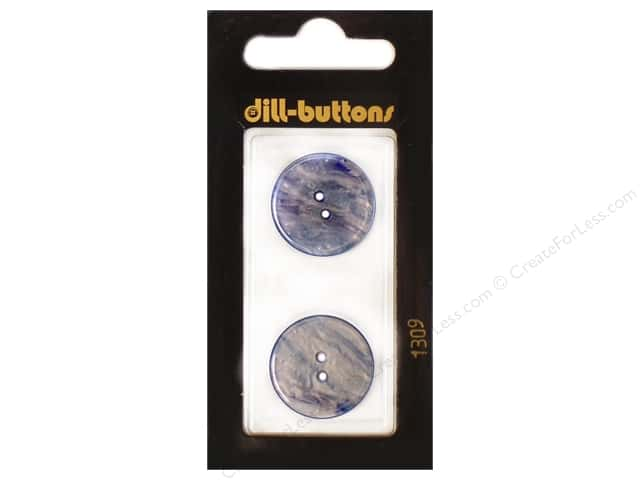 Dill 2 Hole Buttons 13/16 in. Royal Blue #1309 2pc.