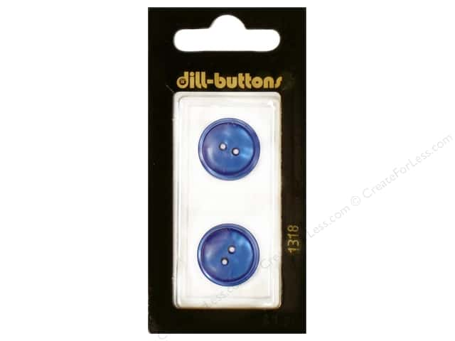 Dill 2 Hole Buttons 11/16 in. Royal Blue #1318 2pc.