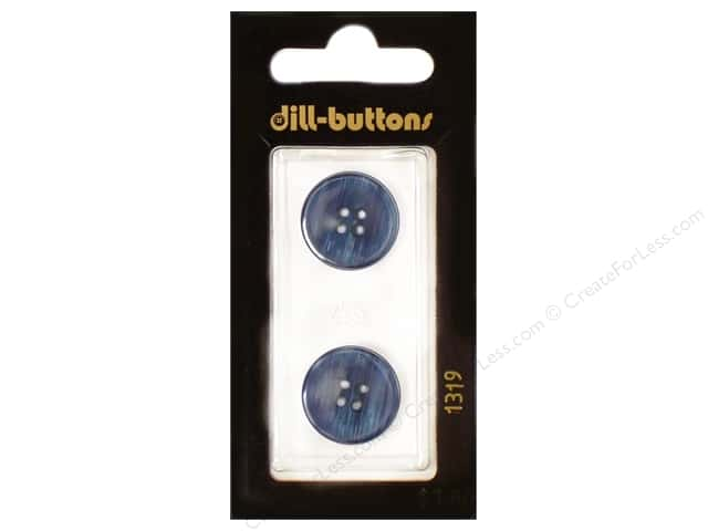 Dill 4 Hole Buttons 11/16 in. Navy #1319 2pc.