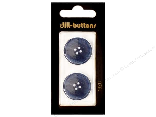 Dill 4 Hole Buttons 7/8 in. Navy #1320 2pc.