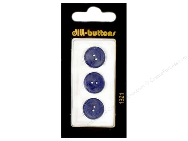 Dill 2 Hole Buttons 5/8 in. Royal Blue #1321 3pc.
