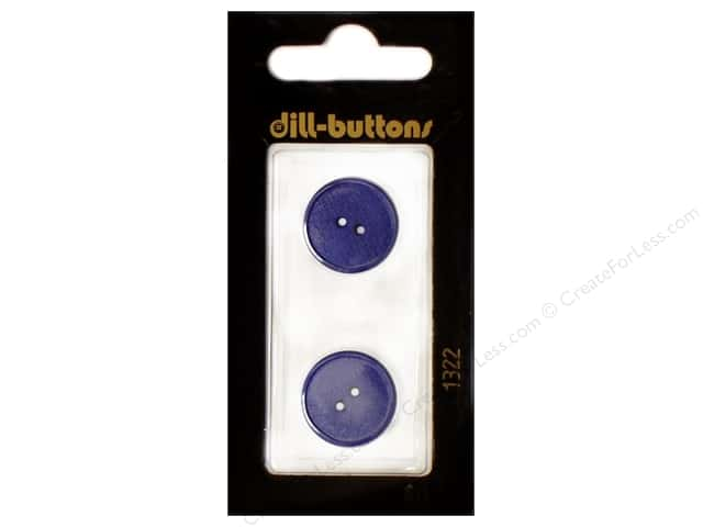 Dill 2 Hole Buttons 11/16 in. Royal Blue #1322 2pc.