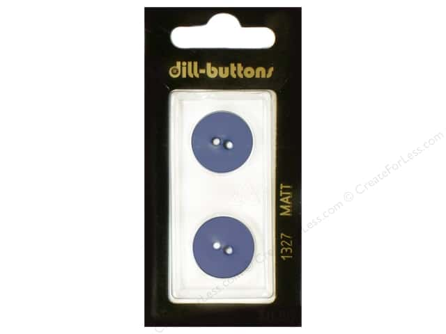 Dill 2 Hole Buttons 11/16 in. Royal Blue #1327 2pc.