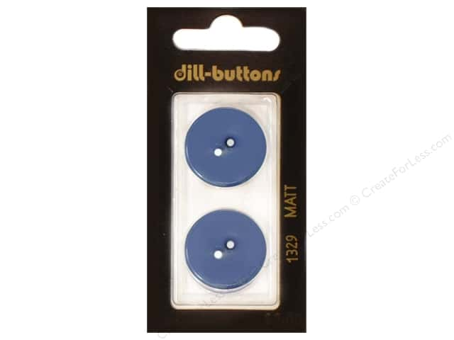 Dill 2 Hole Buttons 7/8 in. Royal Blue #1329 2pc.