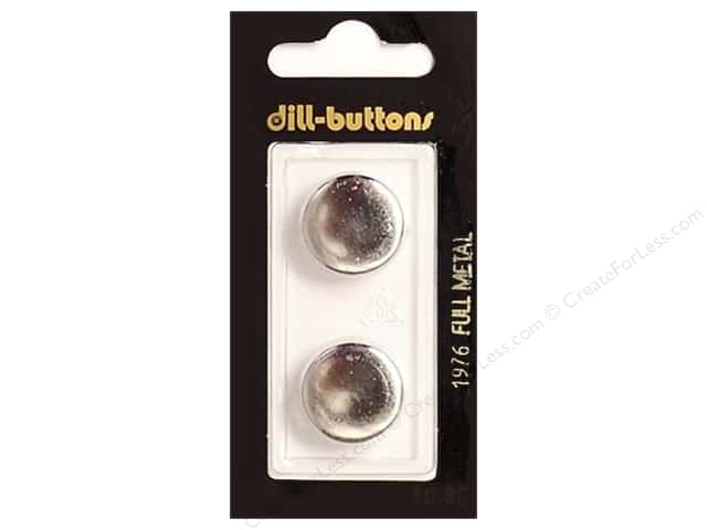 Dill Shank Buttons 11/16 in. Silver Metal #1976 2pc.