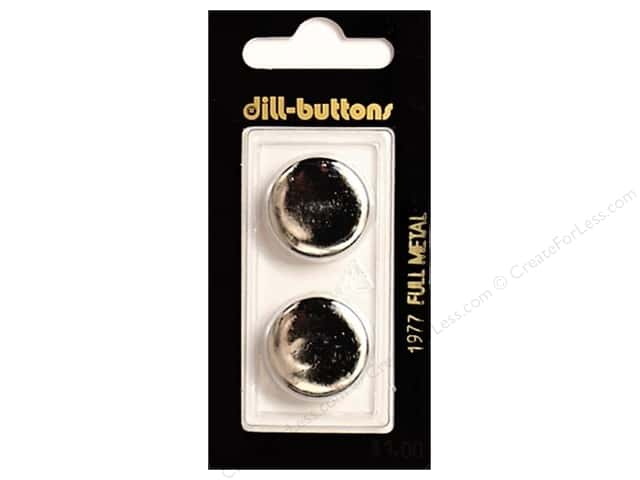 Dill Shank Buttons 13/16 in. Silver Metal #1977 2pc.