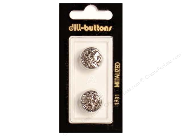 Dill Shank Buttons 5/8 in. Antique Silver #1981 2pc.