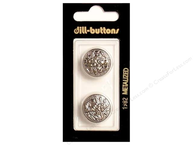 Dill Shank Buttons 3/4 in.  Antique Silver #1982 2pc.
