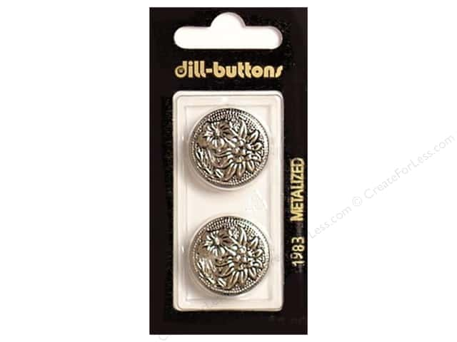 Dill Shank Buttons 7/8 in. Antique Silver #1983 2pc.