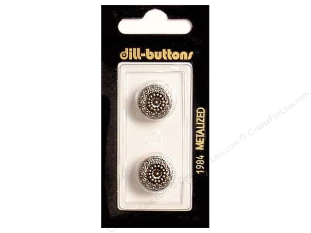 Dill Shank Buttons 9/16 in. Antique Silver #1984 2pc.