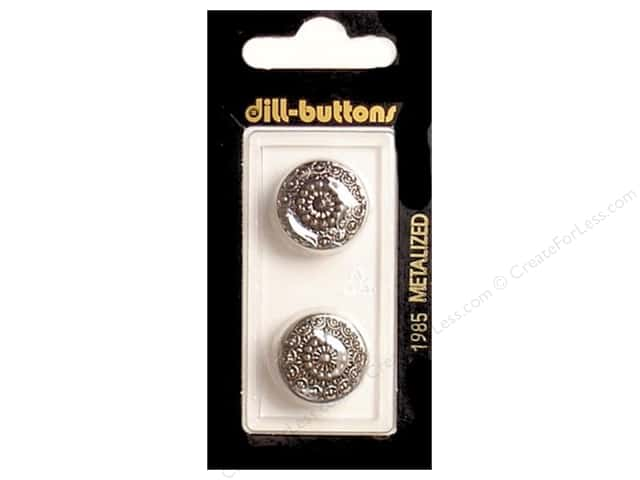 Dill Shank Buttons 11/16 in. Antique Silver #1985 2pc.