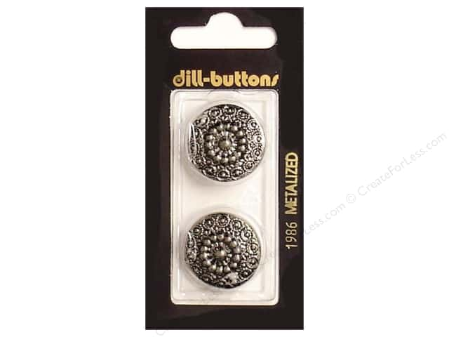 Dill Shank Buttons 7/8 in. Antique Silver #1986 2pc.