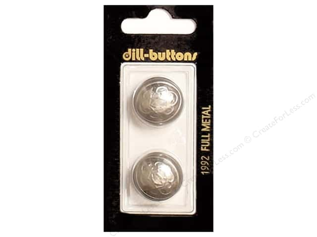 Dill Shank Buttons 13/16 in. Dull Silver Metal #1992 2pc.