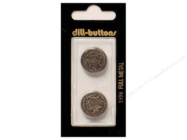 Dill Shank Buttons 11/16 in. Antique Silver Metal #1966 2pc.
