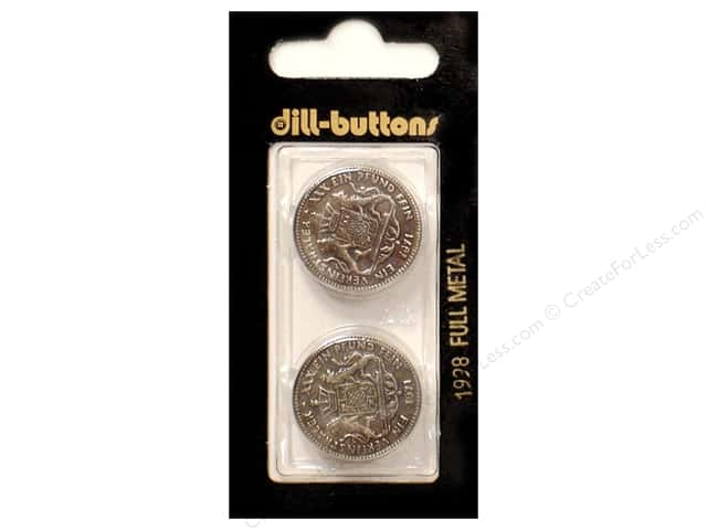 Dill Shank Buttons 7/8 in. Antique Silver Metal #1998 2pc.