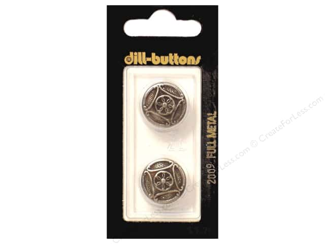 Dill Shank Buttons 11/16 in. Antique Tin Metal #2009 2pc.