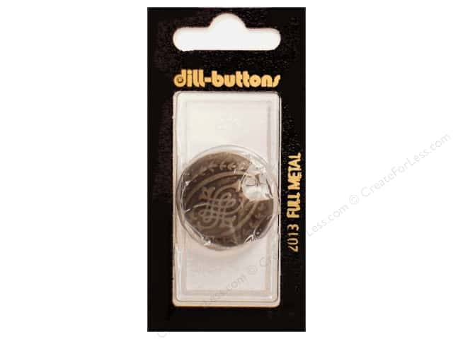 Dill Shank Buttons 1 1/8 in. Antique Tin Metal #2013 1pc.