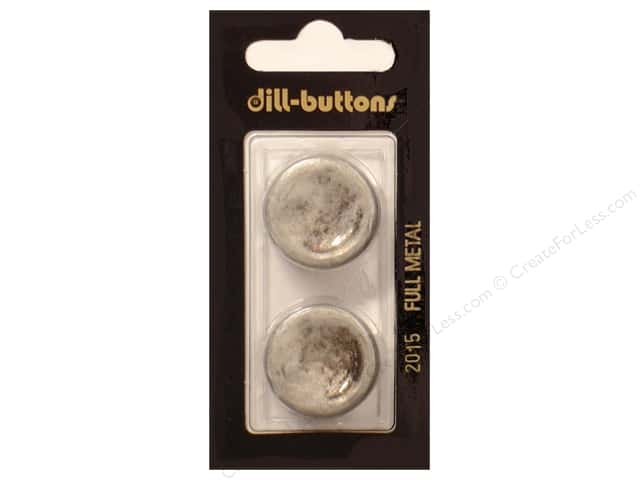 Dill Shank Buttons 7/8 in. Antique Tin Metal #2015 2pc.