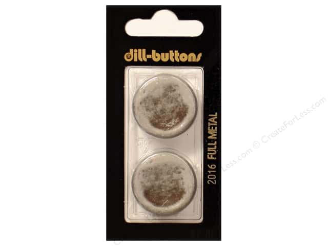 Dill Shank Buttons 1 in. Antique Tin Metal #2016 2pc.