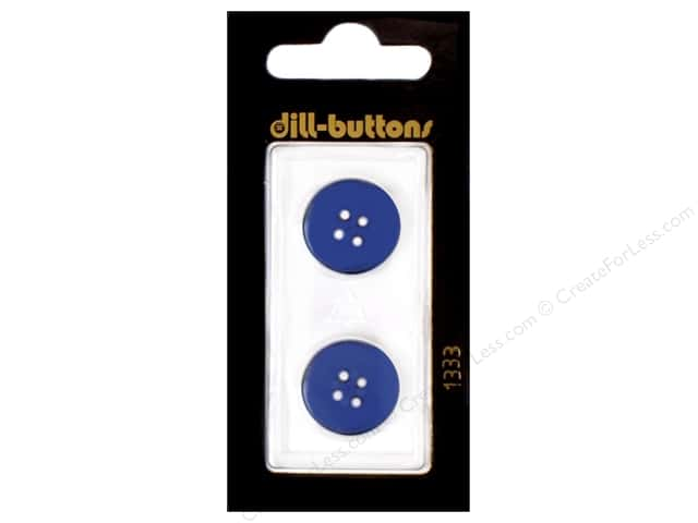 Dill 4 Hole Buttons 11/16 in. Navy #1333 2pc.