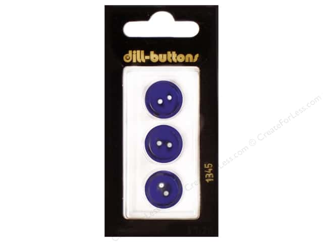 Dill 2 Hole Buttons 5/8 in. Navy #1345 3pc.