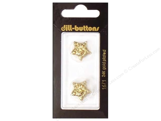 Dill Shank Buttons 11/16 in. Gold Star #1671 2pc.