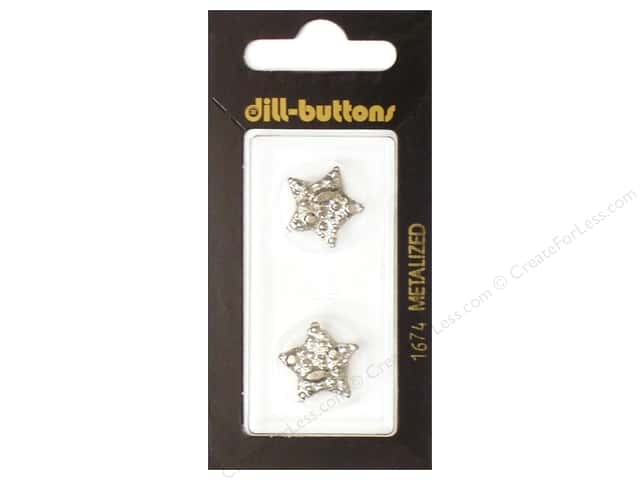 Dill Shank Buttons 11/16 in. Silver Star #1674 2pc.
