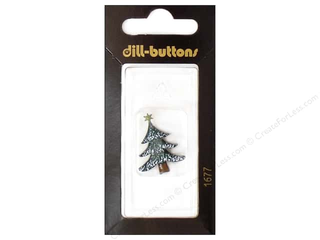 Dill Shank Buttons 1 in. Green Tree with Star #1677 1 pc.