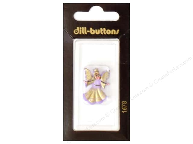 Dill Shank Buttons 1 in. Lilac Angel #1678 1pc.