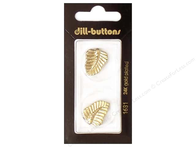 Dill Shank Buttons 13/16 in. Gold Leaf #1681 2pc.