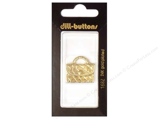 Dill Shank Buttons 1 1/16 in. Gold Purse #1682 1pc.