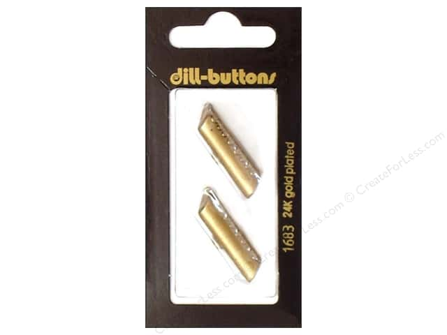 Dill Shank Buttons 1 1/4 in. Gold Metal Bar #1683 2pc.