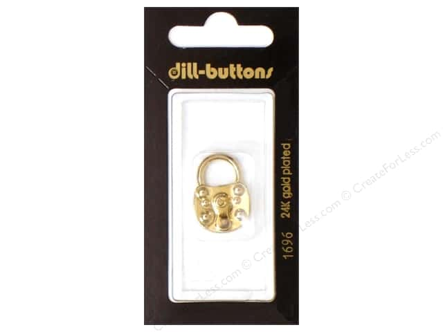 Dill Shank Buttons 7/8 in. Gold Lock #1696 1pc.