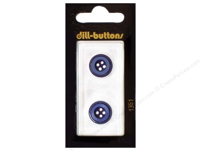 Dill 4 Hole Buttons 5/8 in. Navy #1351 2pc.