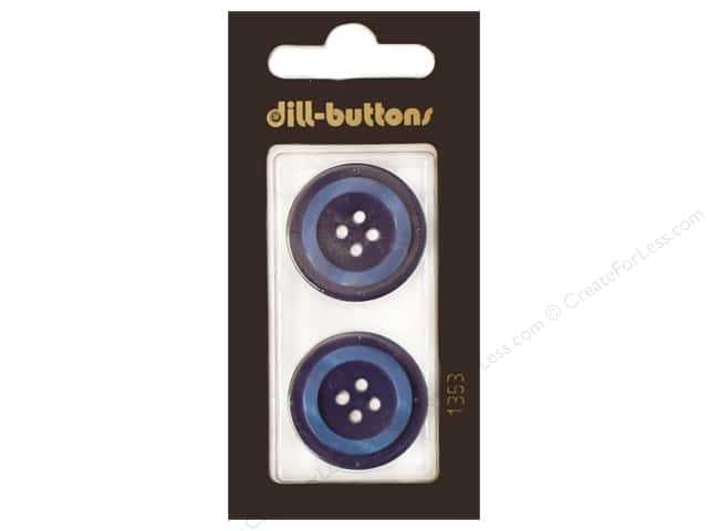 Dill 4 Hole Buttons 1 in. Navy #1353 2pc.