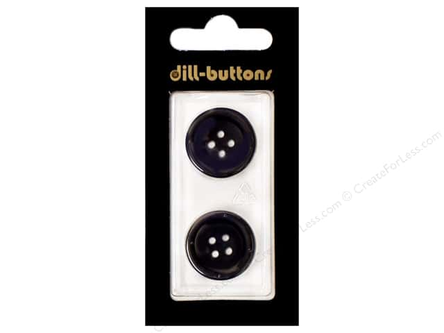Dill 4 Hole Buttons13/16 in. Navy 2pc.