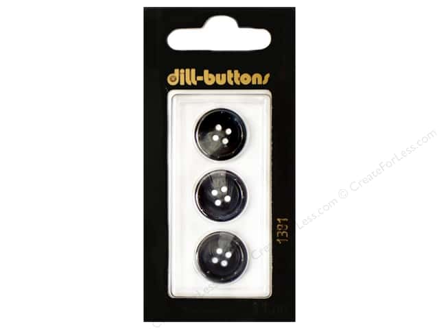Dill 4 Hole Buttons 5/8 in. Navy #1381 3pc.