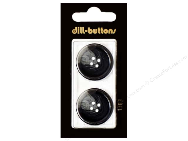 Dill 4 Hole Buttons 1 in. Navy #1383 2pc.